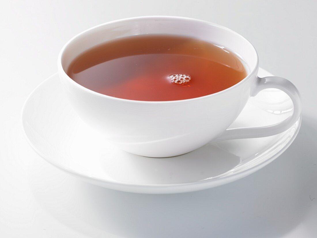 East Friesian tea in a porcelain cup