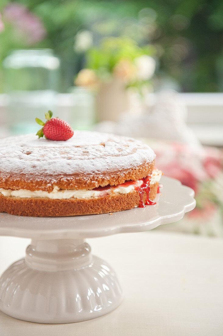Victoria sponge cake (afternoon tea)