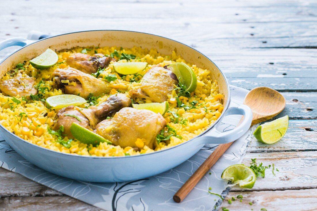 Galinhada (chicken and rice, Brazil)