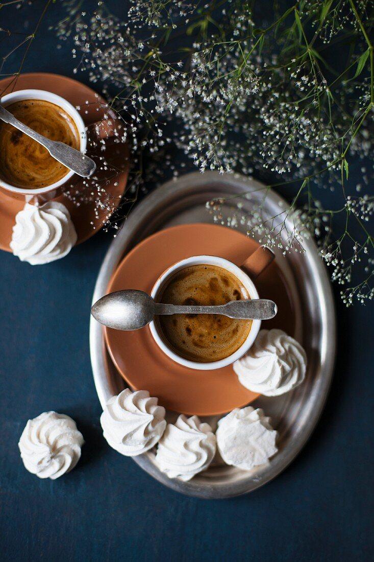 Espresso and meringue biscuits
