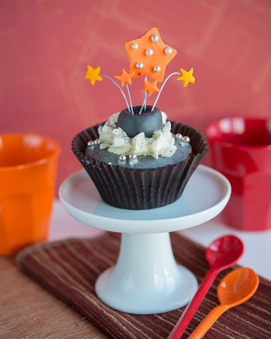 A cupcake for Bonfire Night