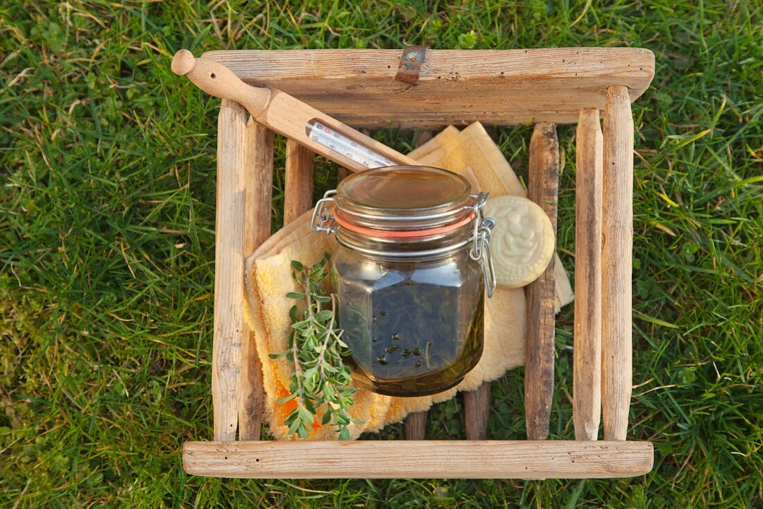 Marjoram oil to relax and aid sleep