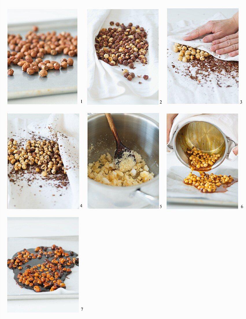 How to make hazelnut brittle