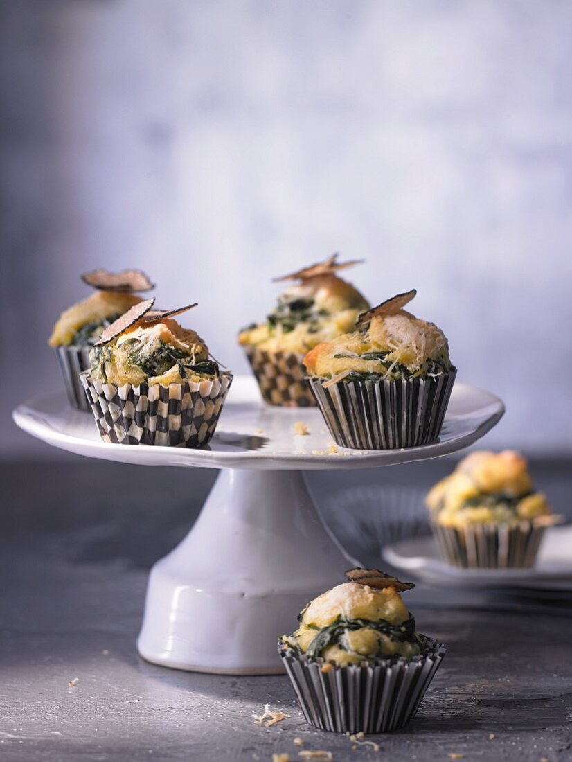 Mini cornmeal muffins with truffle cheese