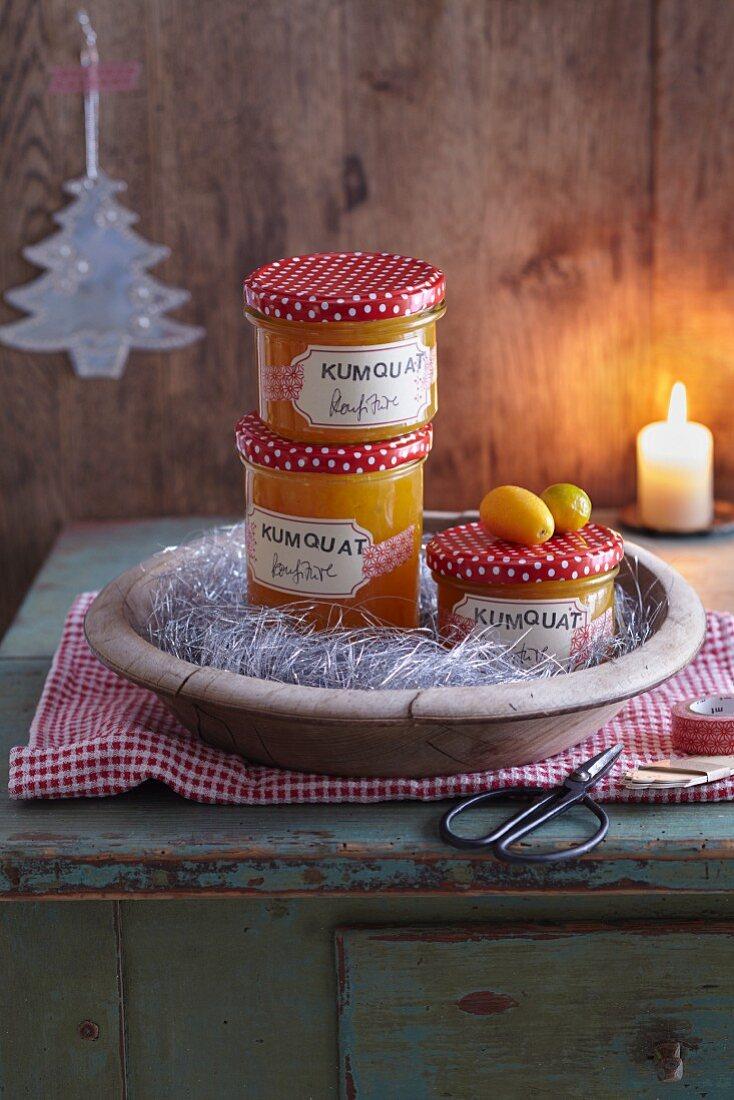 Kumquat jam for gifting