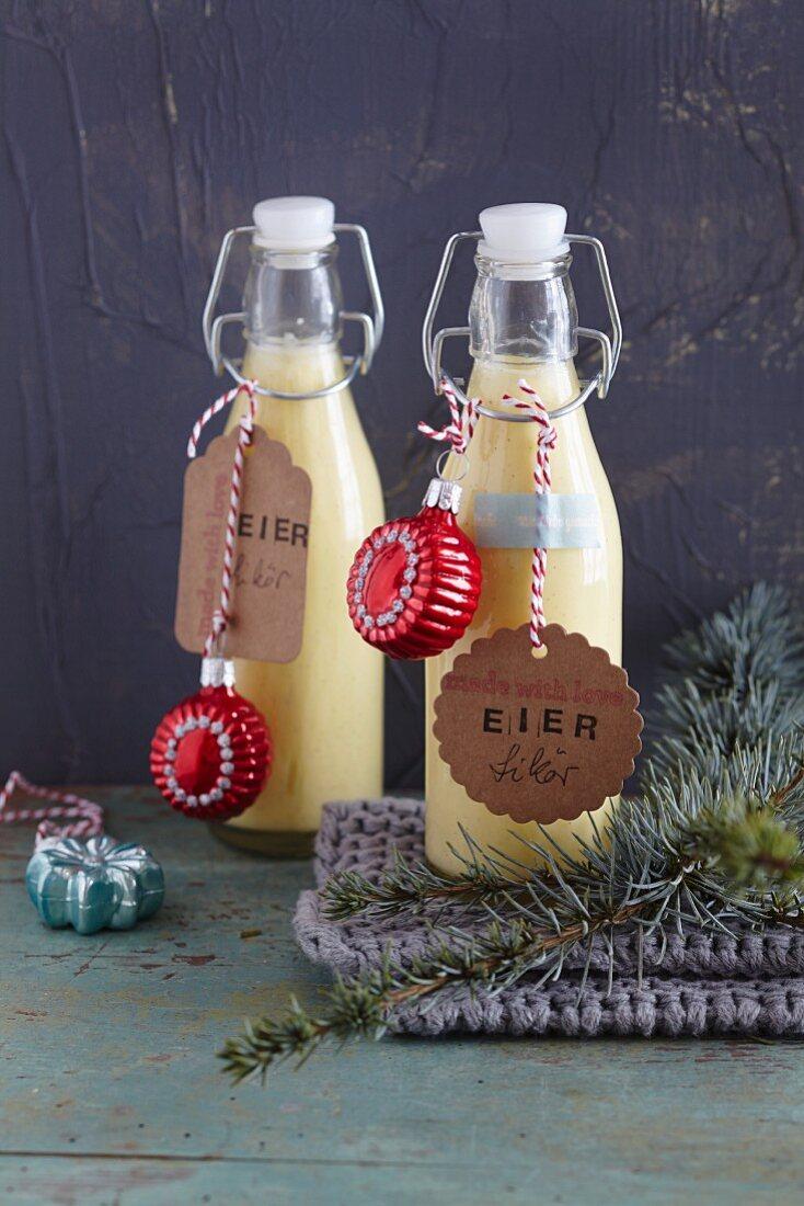 Homemade egg liqueur (Christmas)