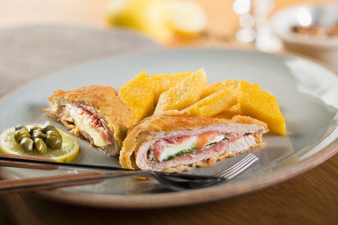 Cordon bleu with mozzarella and Parma ham (Italy)