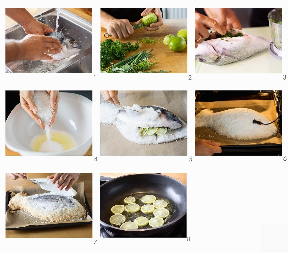 How to make gilthead in a salt crust