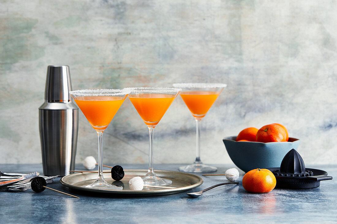 Three mandarin cocktails