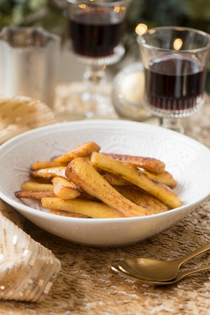Roasted parsnips (as a side dish for Christmas dinner)