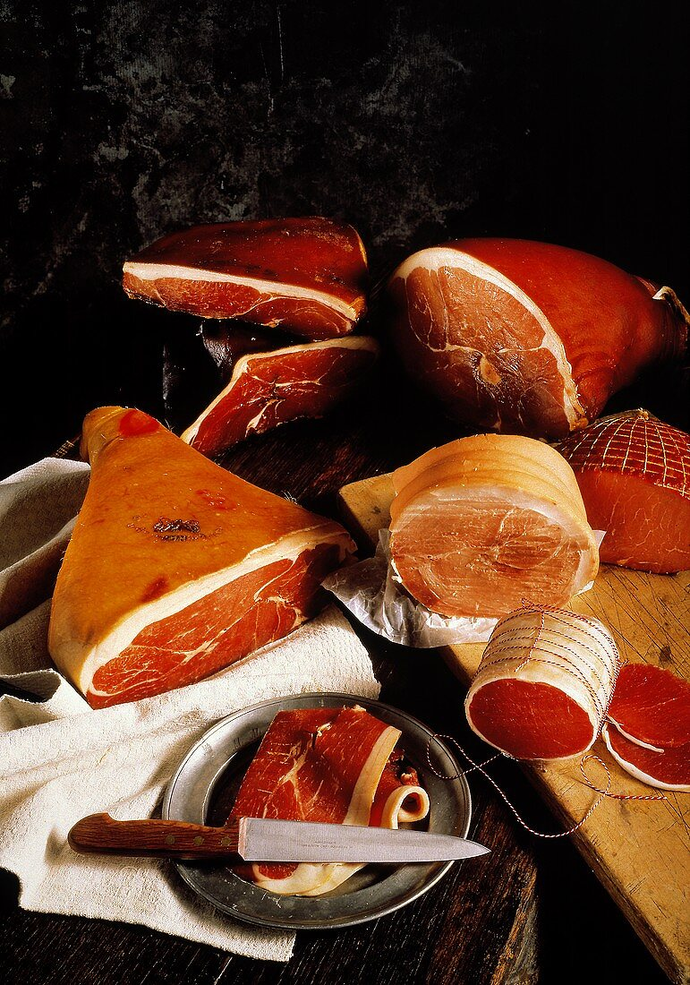 Still Life of Many Assorted Hams