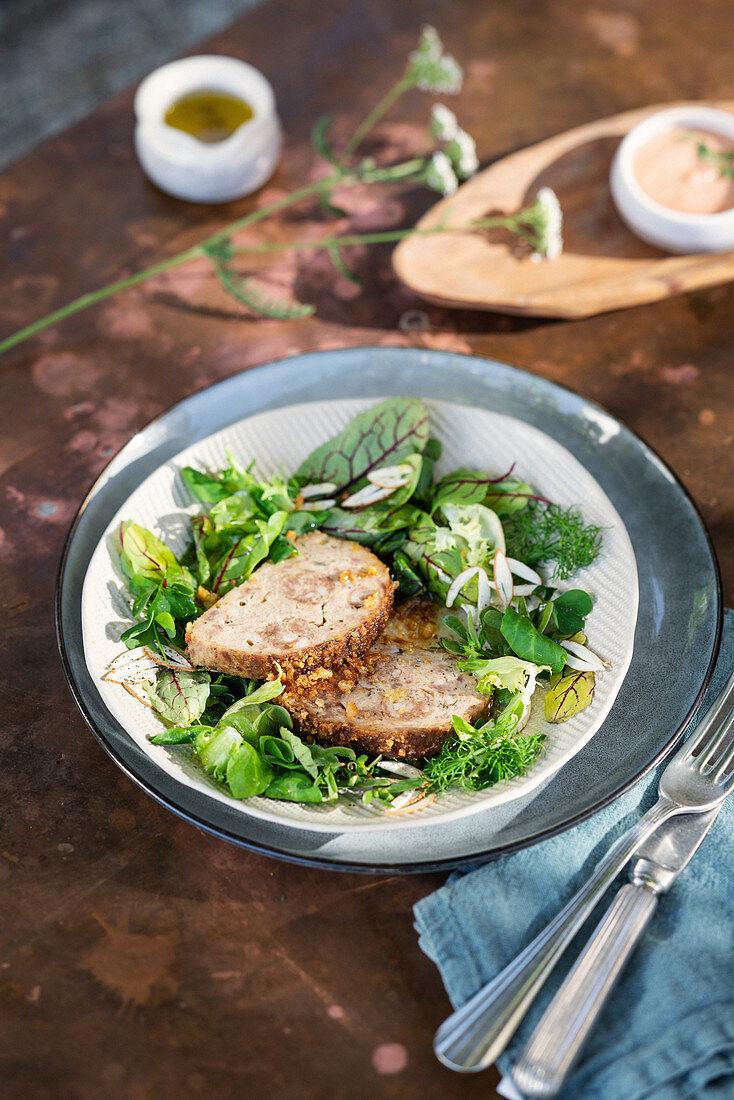 Veal and salami meatloaf