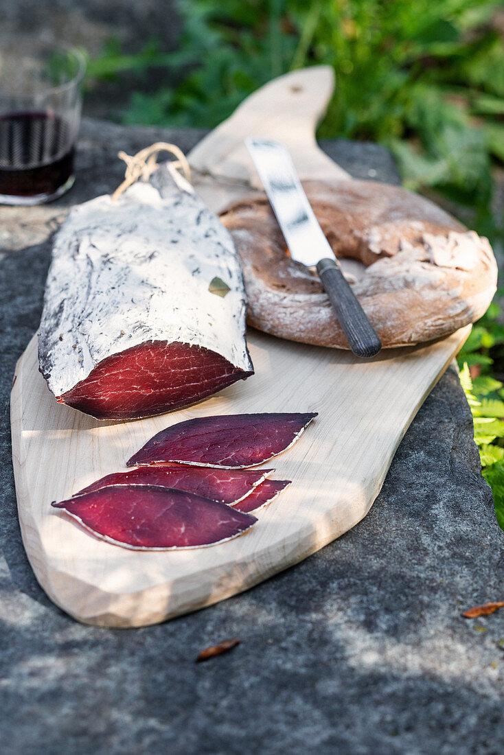 Bresaola (air-dried beef ham, Italy)