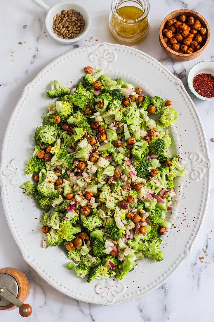 Raw broccoli salad
