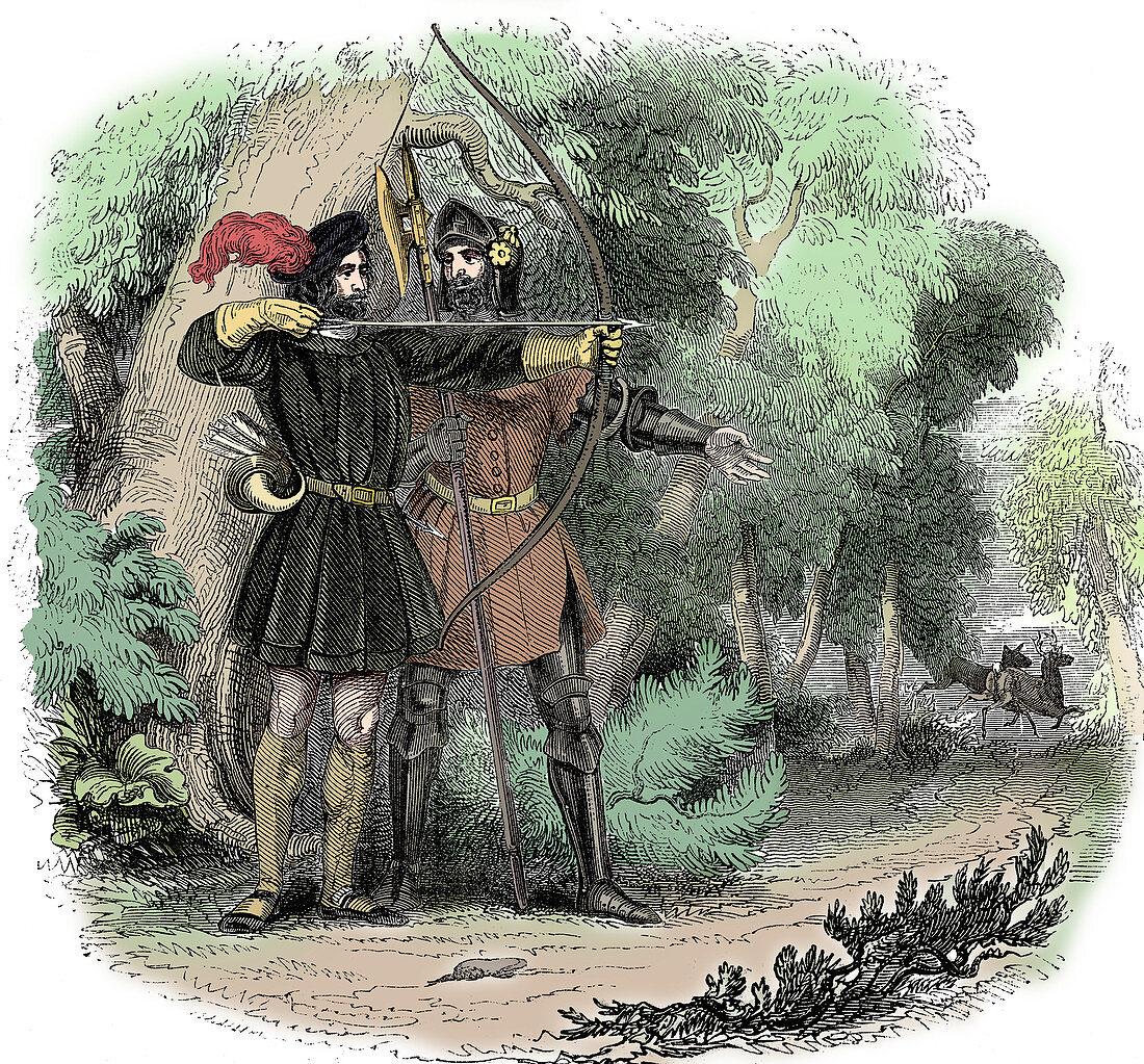Robin Hood, English folk hero and outlaw