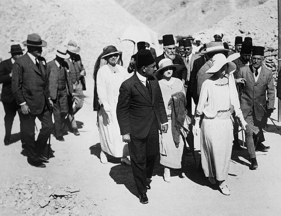 Visitors to the Tomb of Tutankhamun, Egypt, 1923