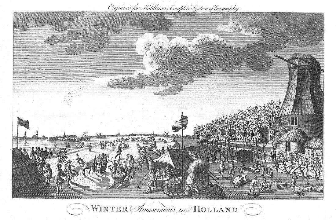 Winter Amusements in Holland, c1760