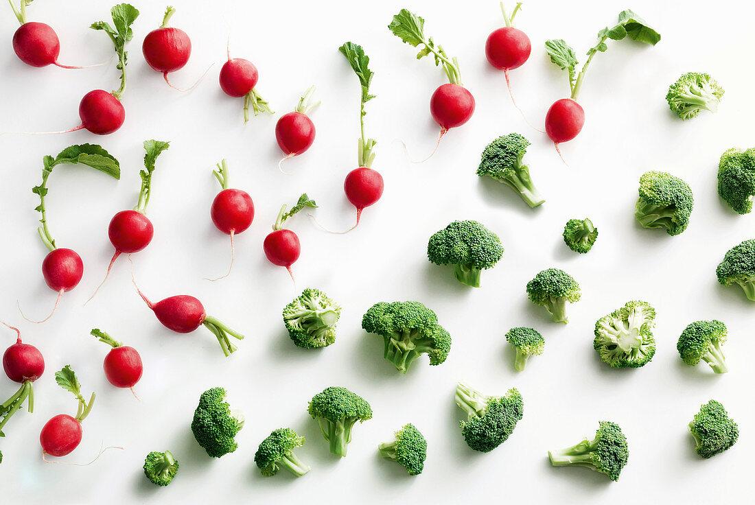 Radieschen und Brokkoliröschen