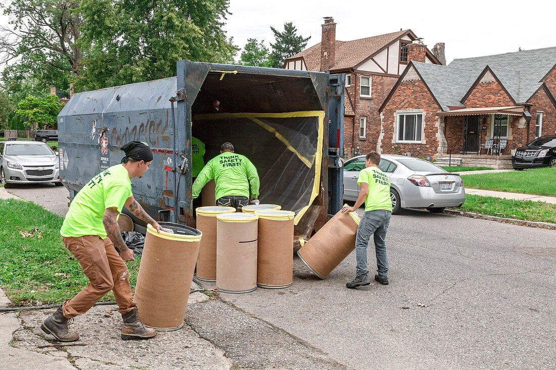 Asbestos removal work