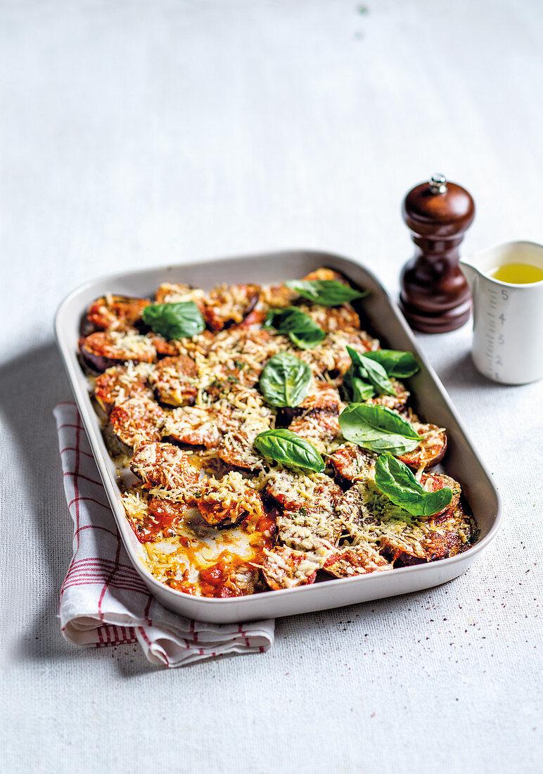 Parmigiana with aubergines