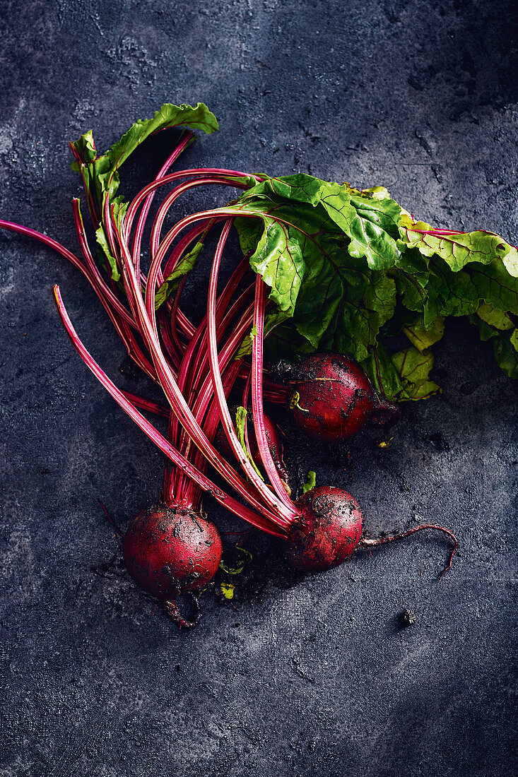 Young beets from home garden
