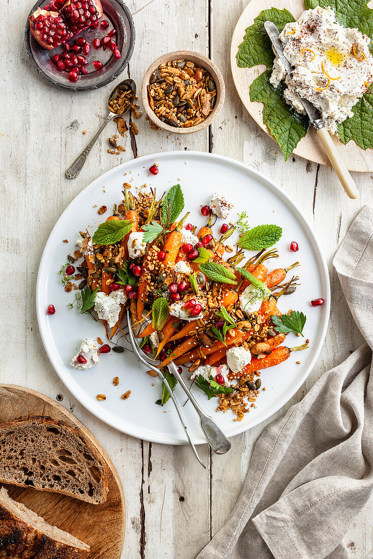 Spring Carrot and Labne Salad