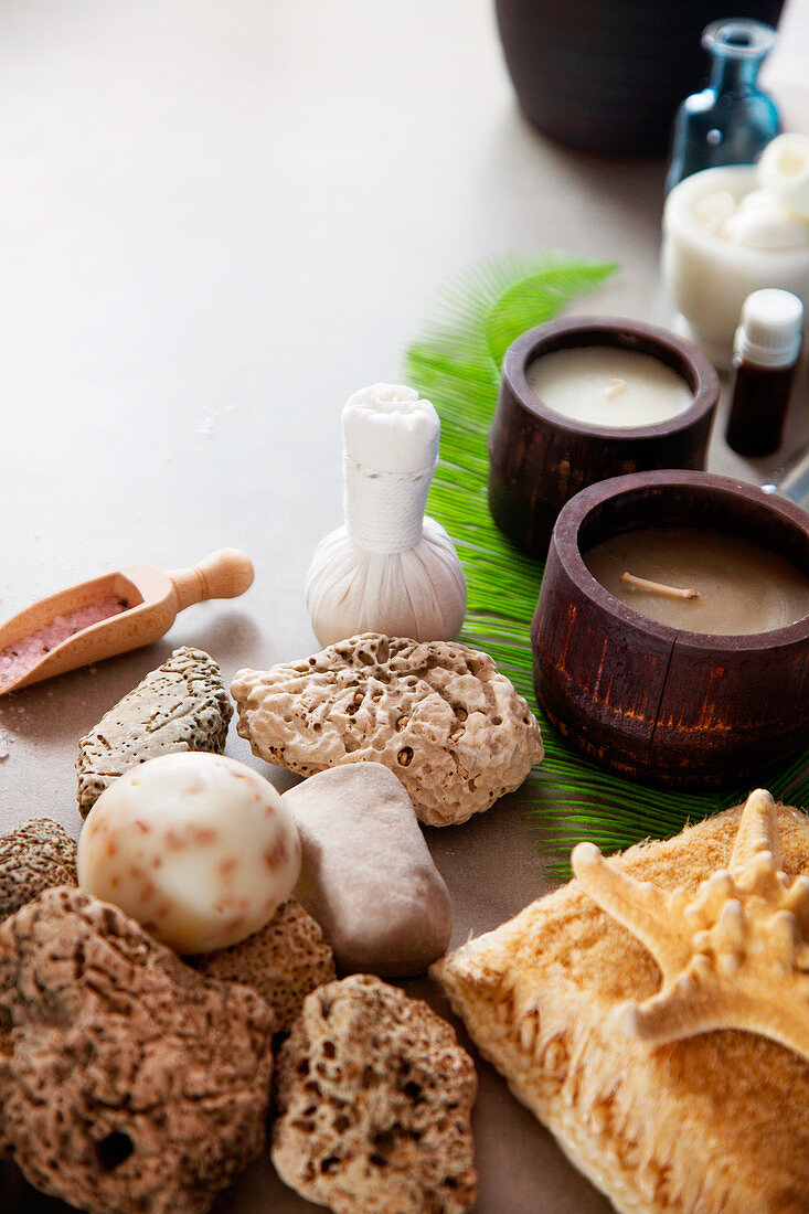 Spa and wellness, Spa products in natural setting, Spa treatment
