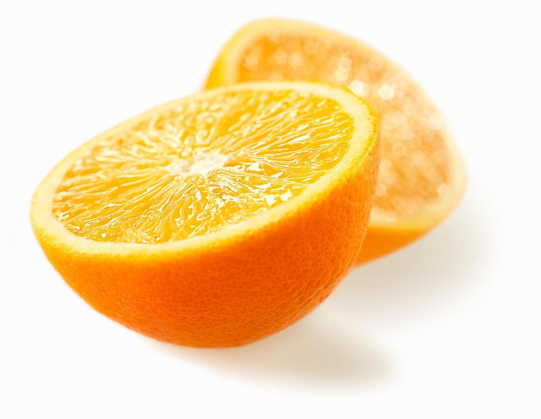 An Orange, Sliced in Half