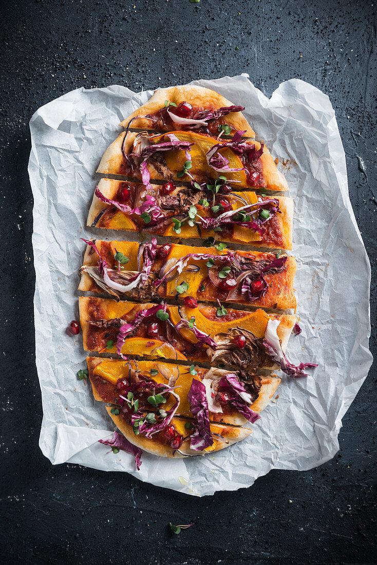 Vegan Spelt Pizza With Pumpkin License Images 12601028 Stockfood