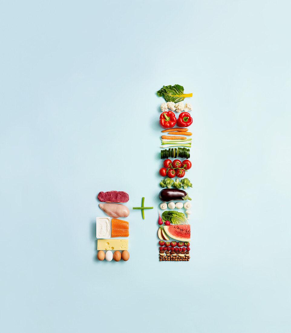 Kombination proteinreiche und kohlenhydratarme Lebensmittel