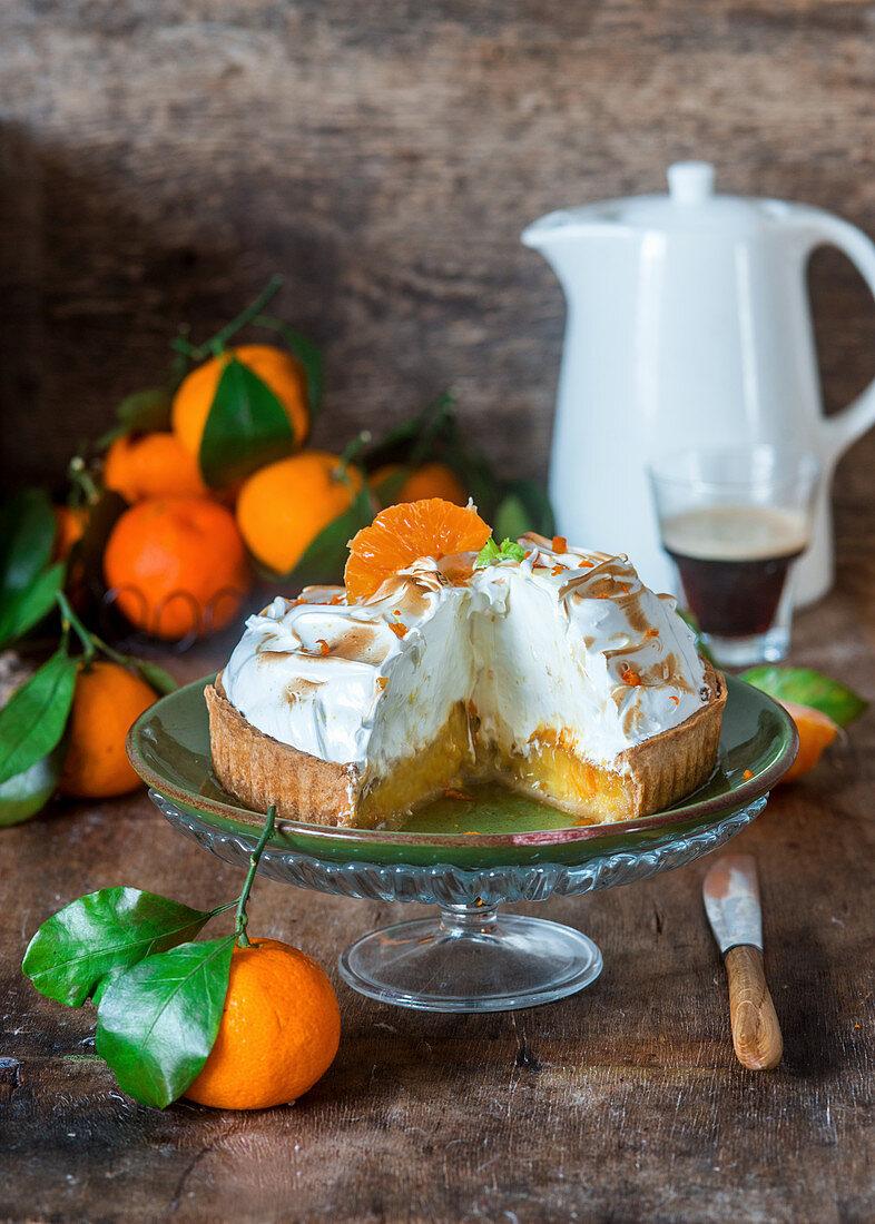 Tangerine meringue pie