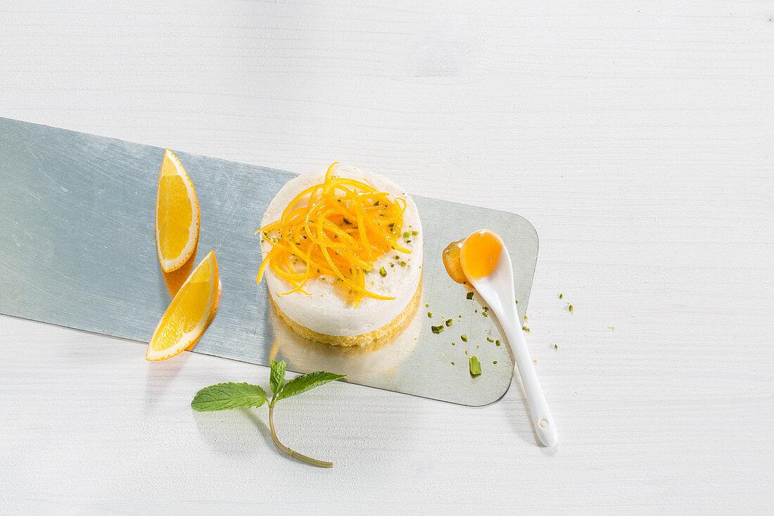 Orange tarts with orange zest