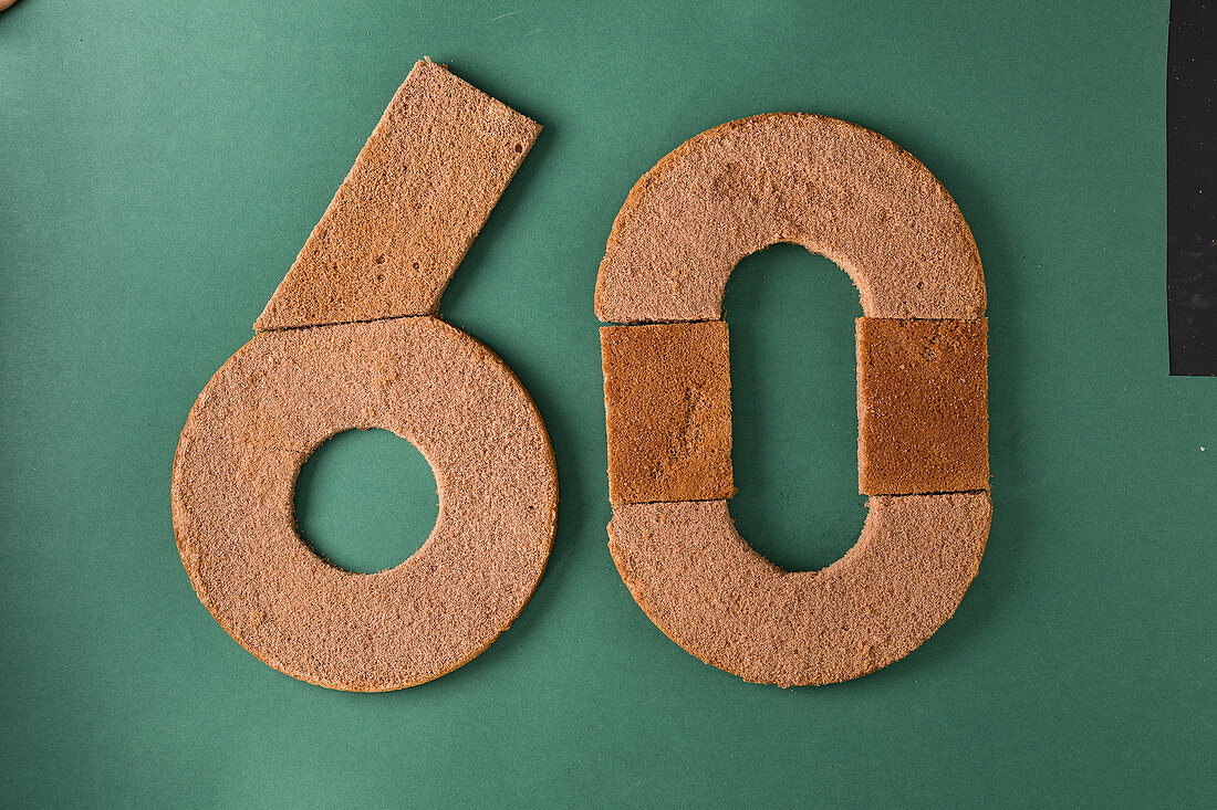A number 60 cake