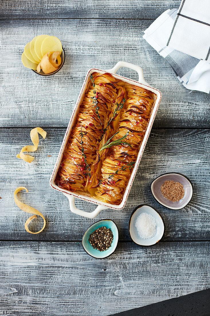 Potato bake with spices