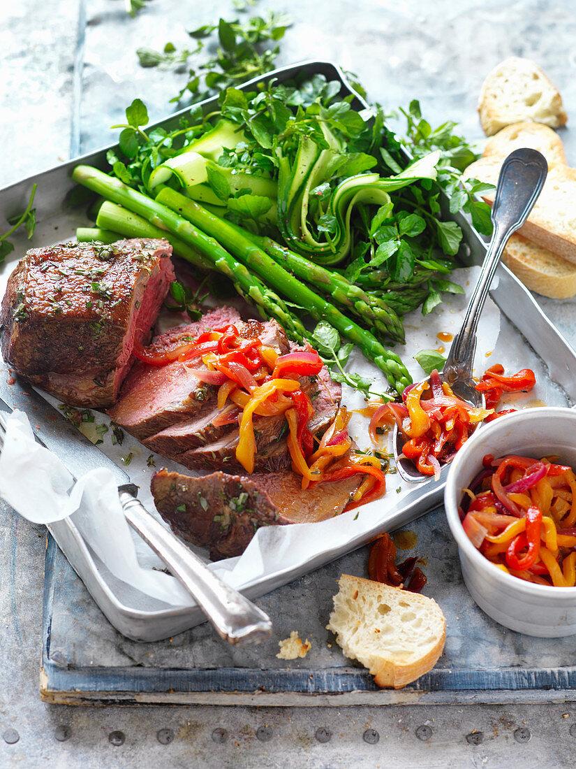 Roast Veal With Capsicum