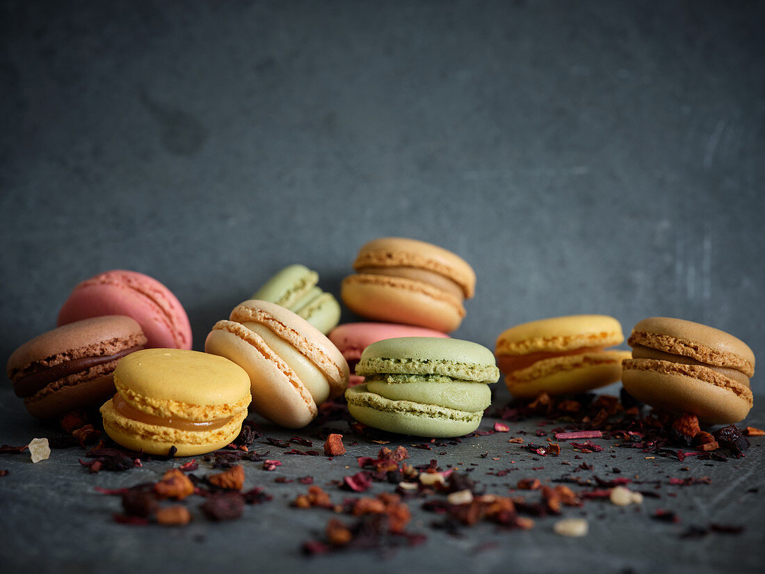 Bright Fresh Tasty Macaron Biscuits On License Images 12624916 Stockfood