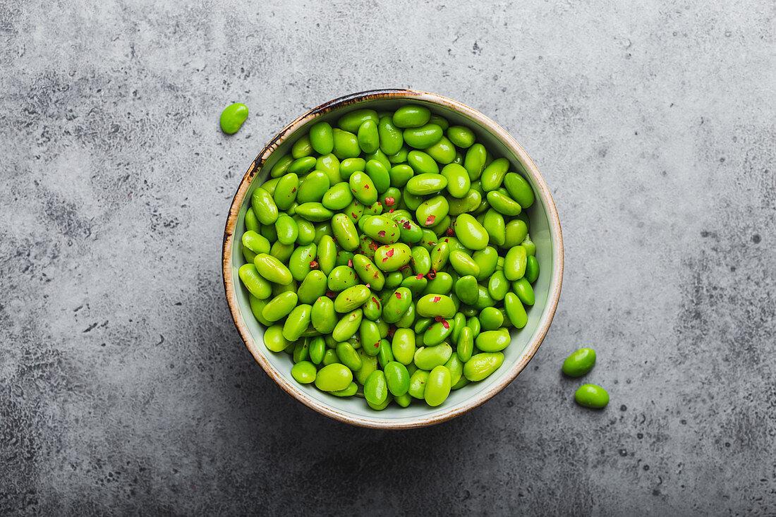 Fresh edamame beans