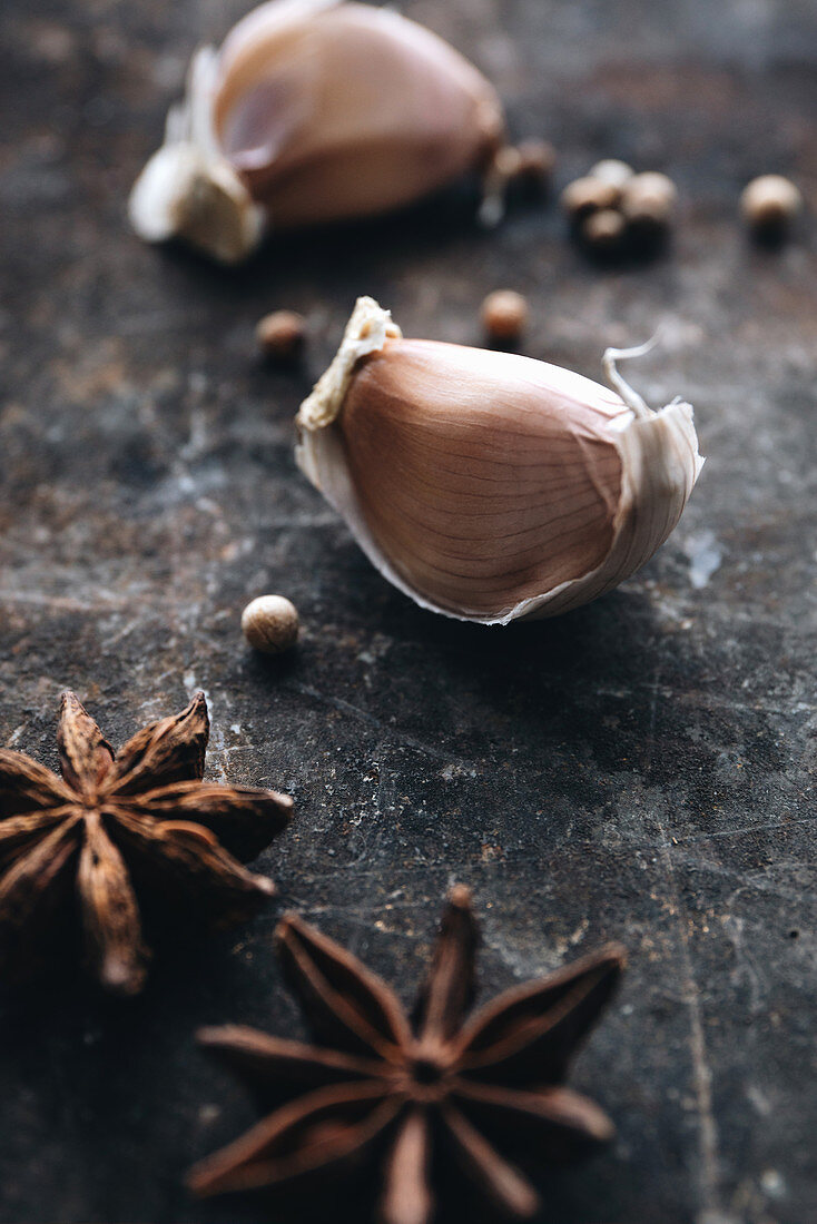 Garlic and spices