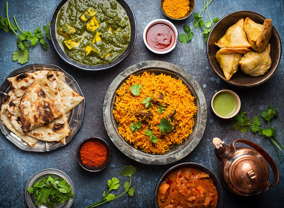 Indian traditional dishes and appetizers