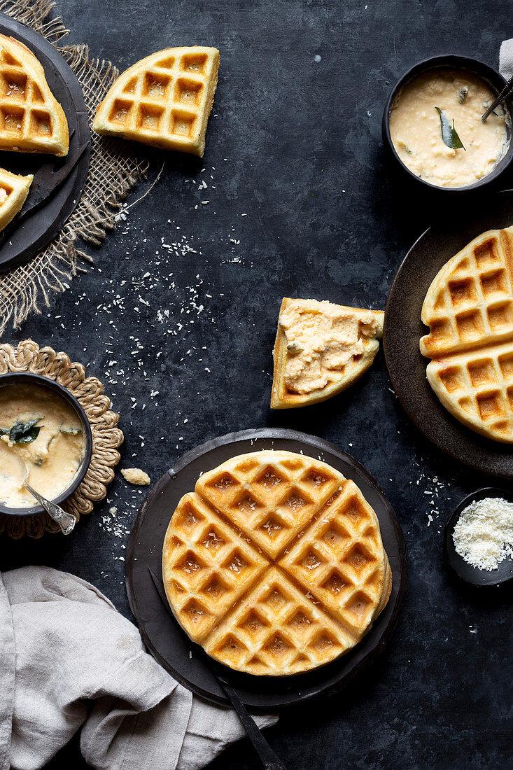 Savory, gluten free and vegan dosa waffles (India)