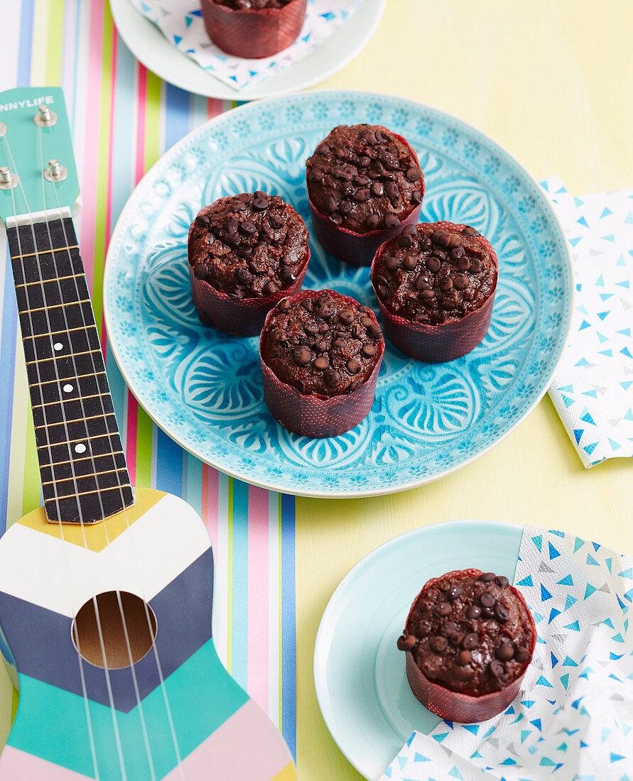 Fudgy Kumara Chocolate Muffins