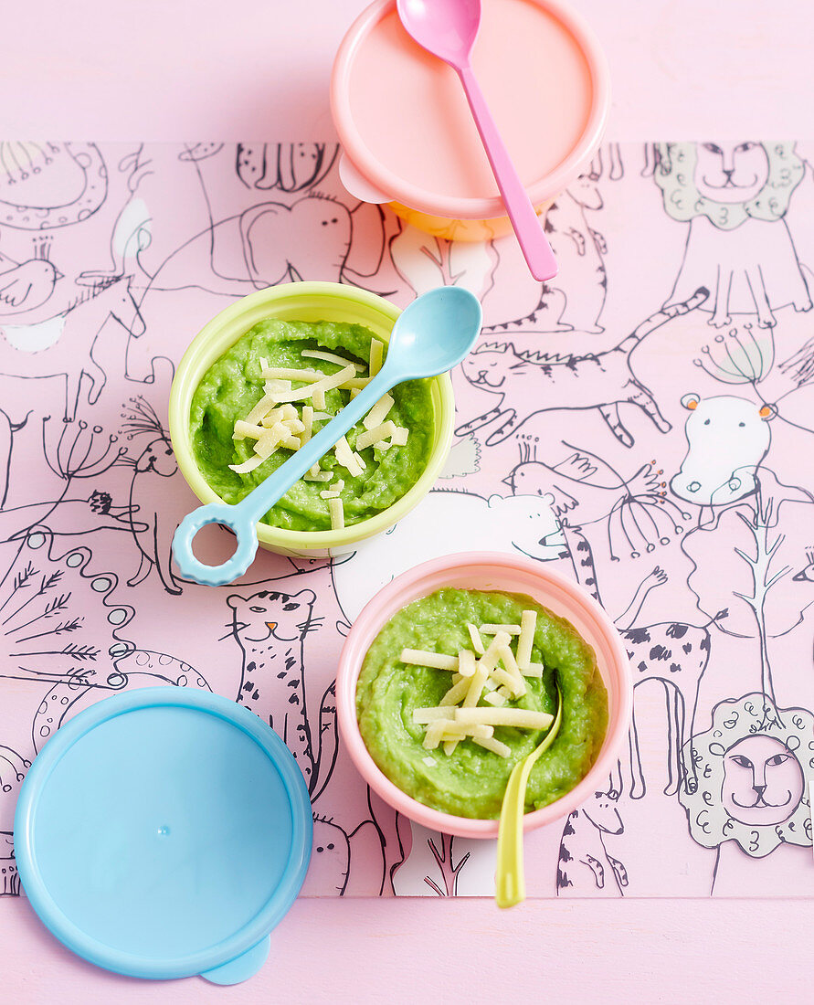 Vegetable and Cheese Mash for babies (6-9 Months)