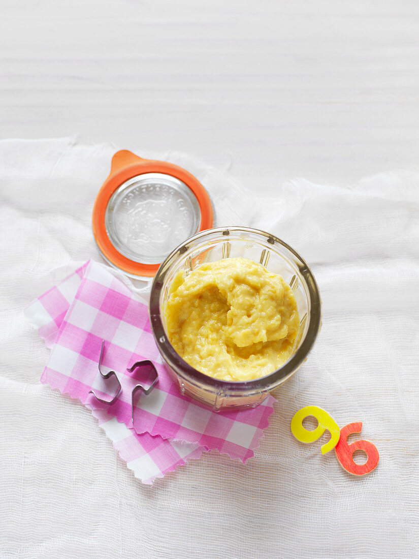 Chicken, Corn and Risoni Puree for babies (6-9 Months)