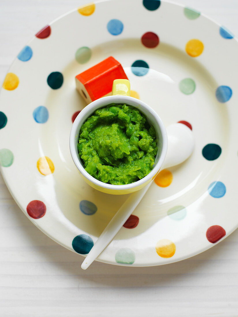 Pea Mash for babies (6-9 Months)