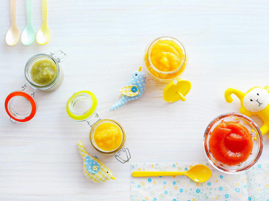 Fruit Purees for babies (6-9 Months)