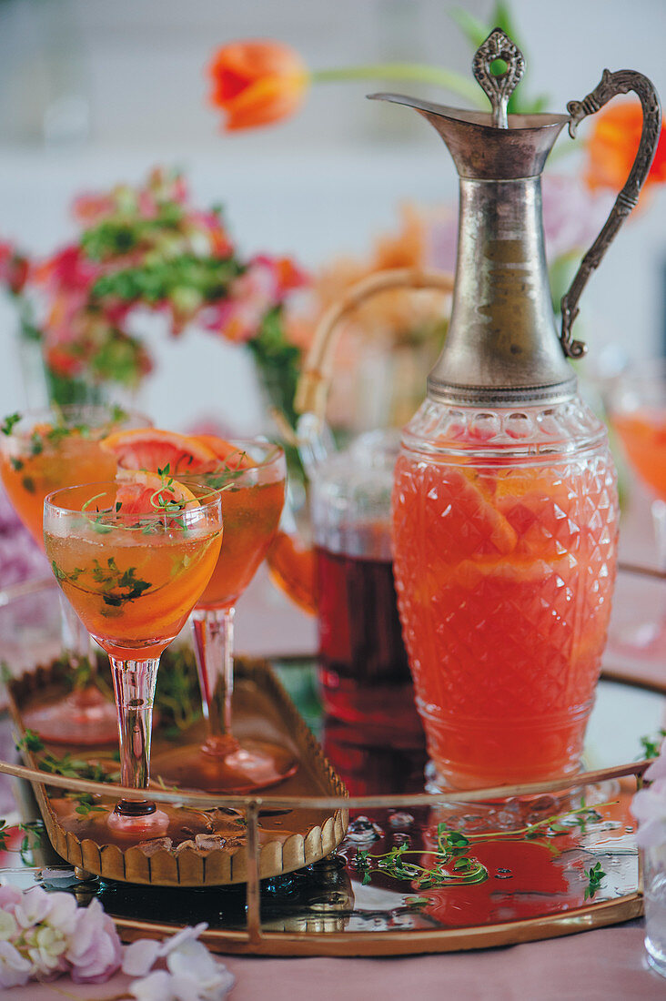 Rooibos grapefruit drink for Mother's Day