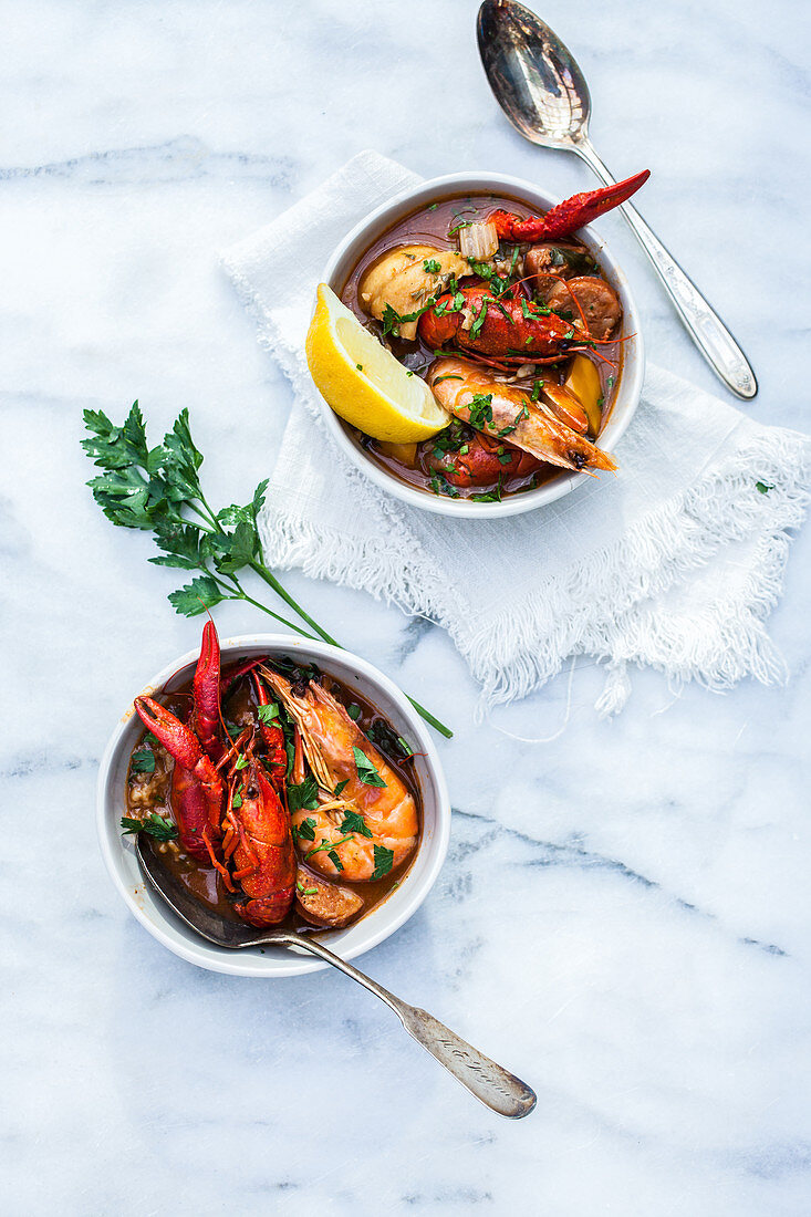 Seafood stew from Portugal