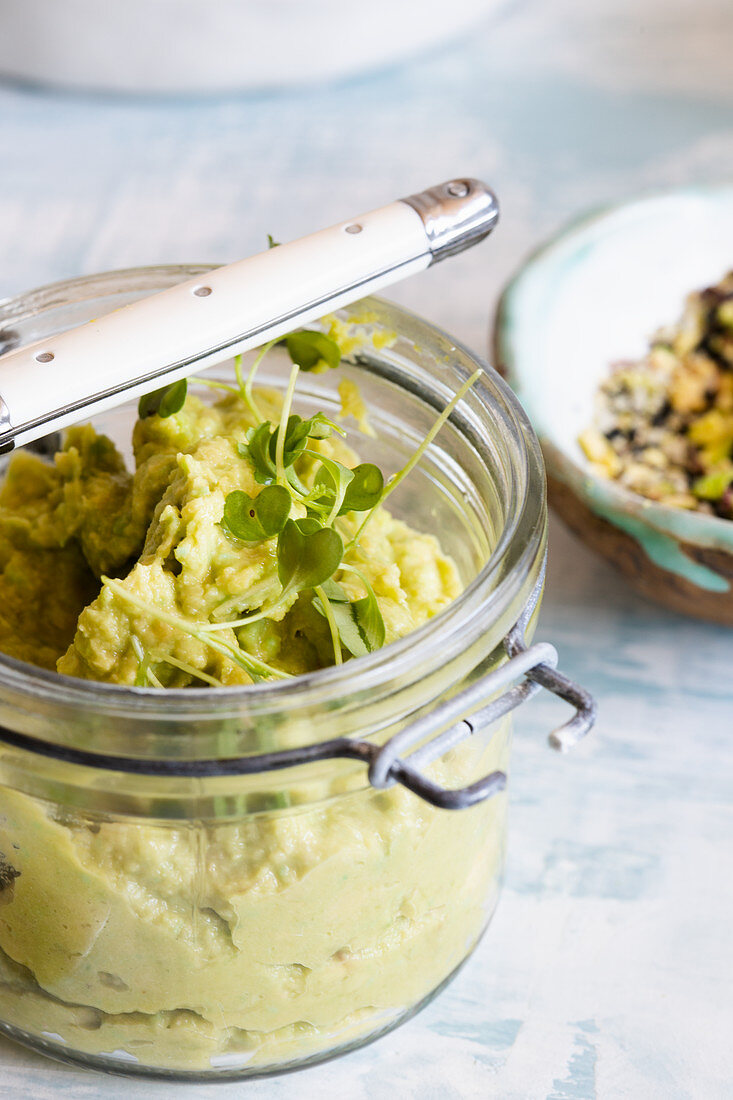 Avocado and wasabi hummus