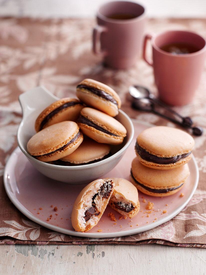 Macarons with chili chocolate