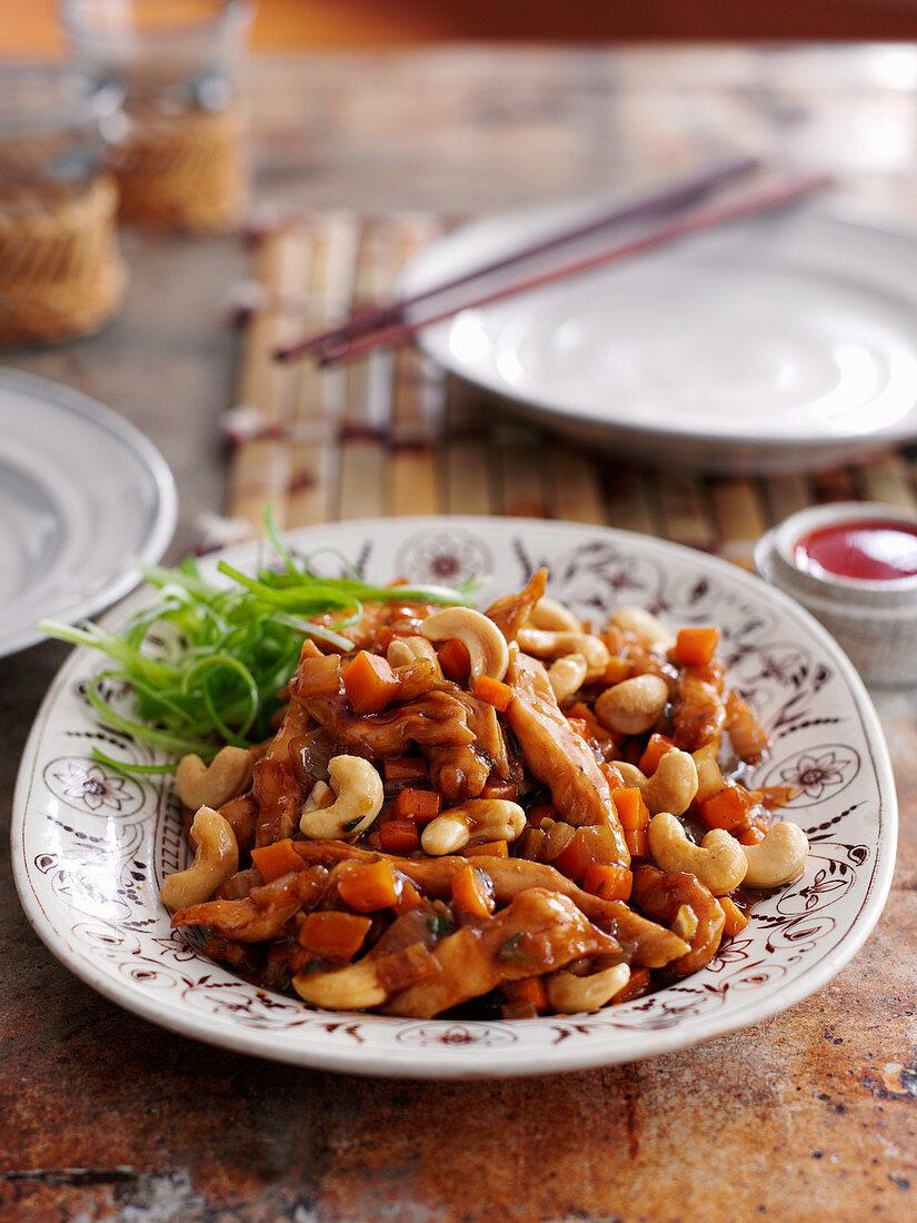 Classic cashew chicken (China)